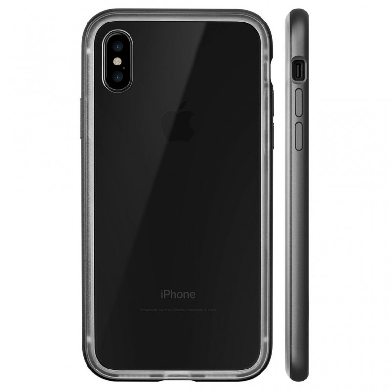LAUT Exo Frame iPhone X/Xs Gun Metal - 3
