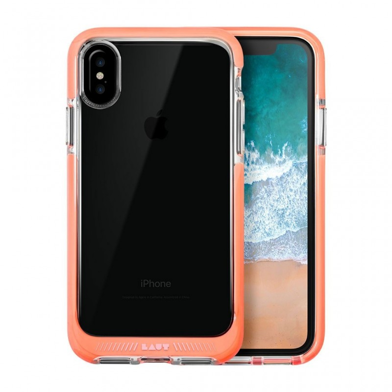 LAUT Fluro IMPKT Case iPhone X/Xs Pink/Clear - 1