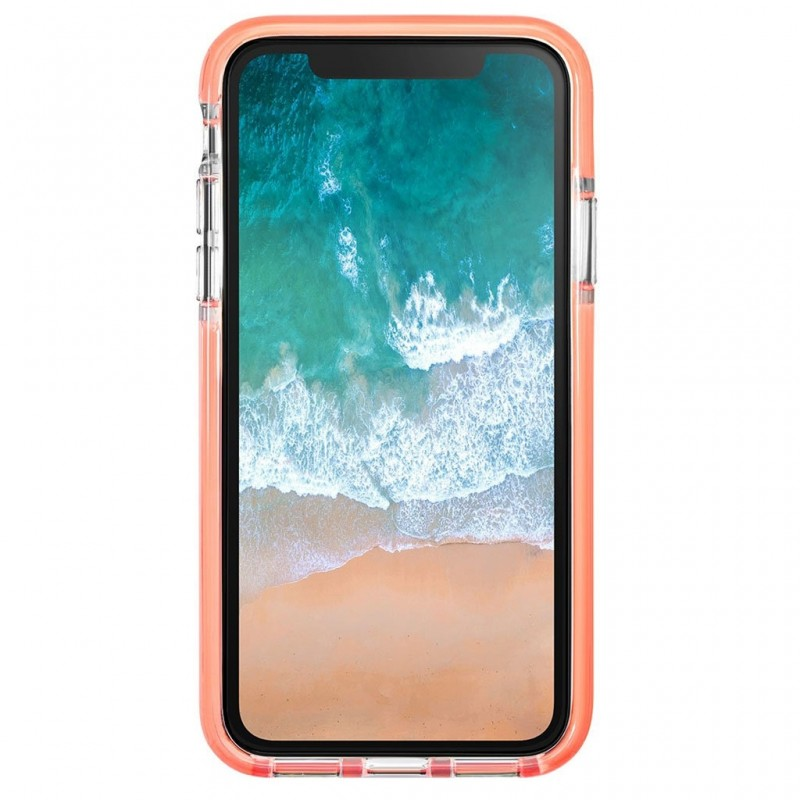 LAUT Fluro IMPKT Case iPhone X/Xs Pink/Clear - 2