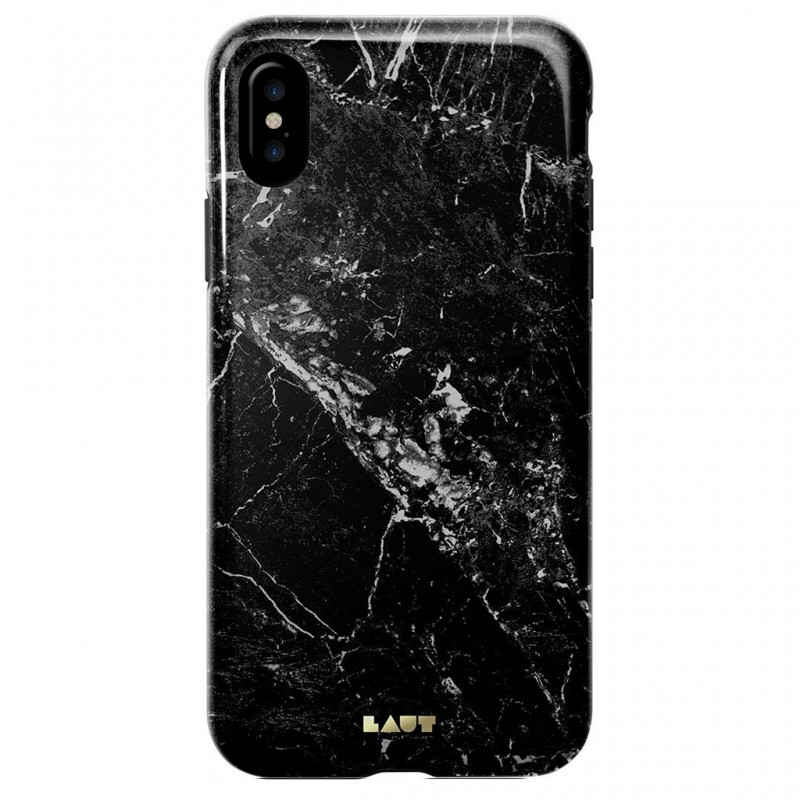 LAUT Huex Metallics iPhone X Black Marble - 2