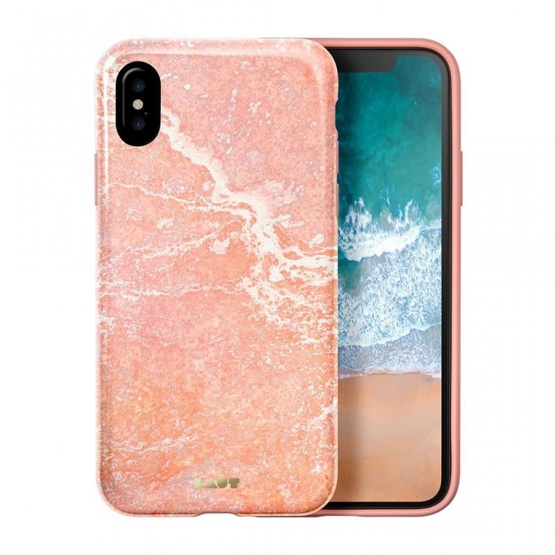 LAUT Huex Metallics iPhone X/Xs Pink Marble - 1