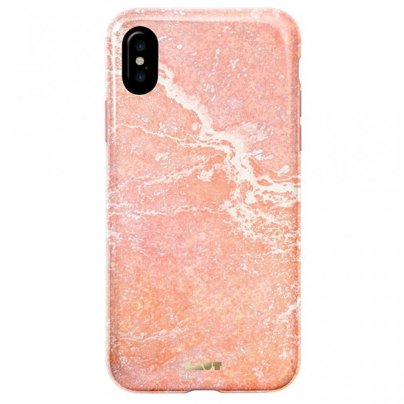 LAUT Huex Metallics iPhone X/Xs Pink Marble - 2