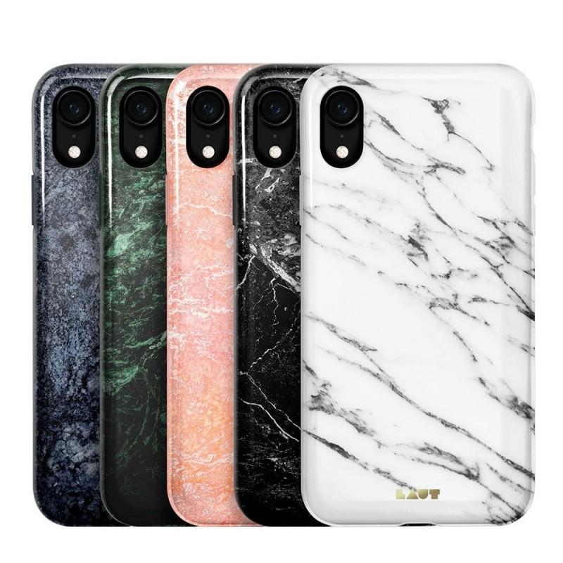 LAUT Huex Elements iPhone XR Hoesje Wit Marmer 04