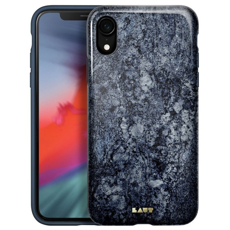 LAUT Huex Elements iPhone XR Hoesje Blauw Marmer 01