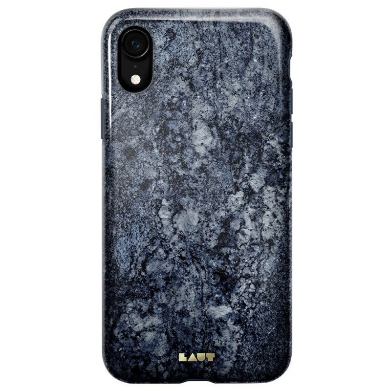 LAUT Huex Elements iPhone XR Hoesje Blauw Marmer 03