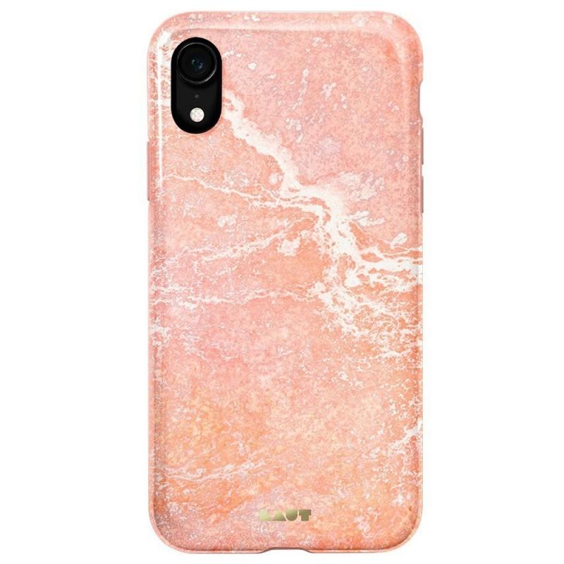 LAUT Huex Elements iPhone XR Hoesje Roze Marmer 03