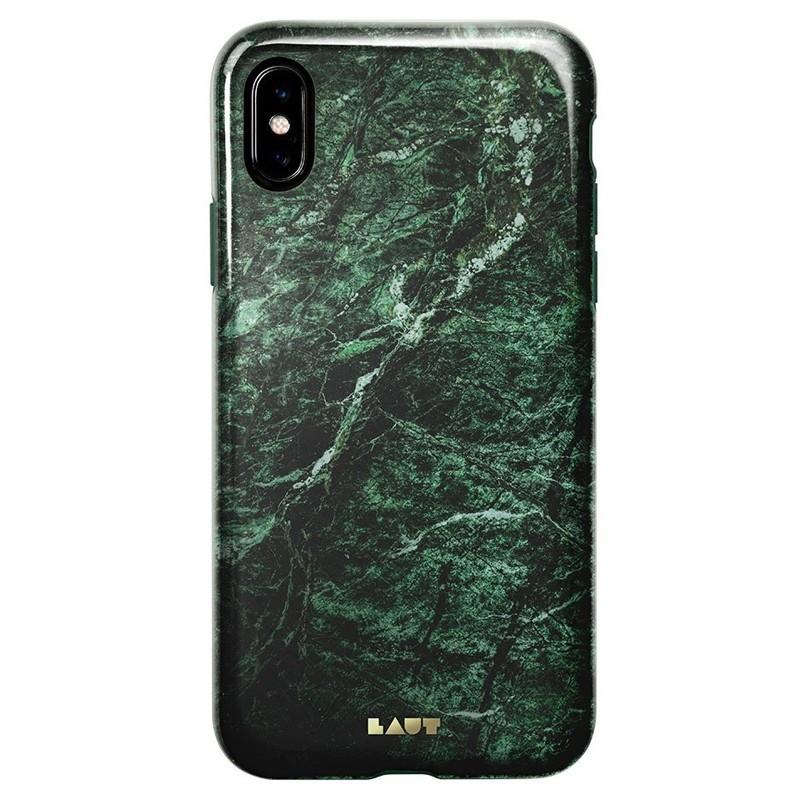 LAUT Huex-E iPhone XS Max Hoes Blauw Marmer 03