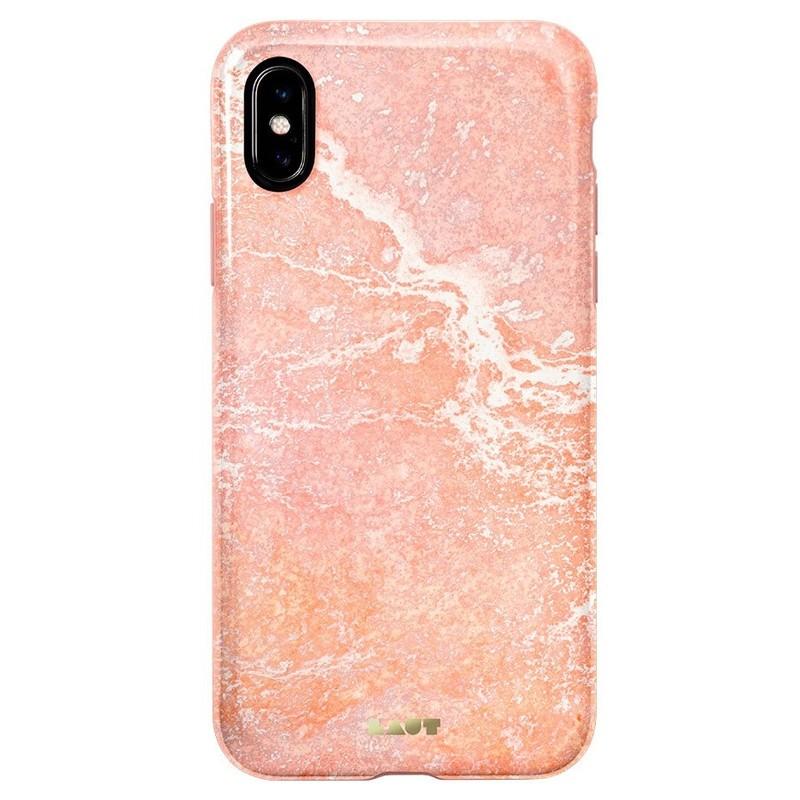 LAUT Huex-E iPhone XS Max Hoes Roze Marmer 03