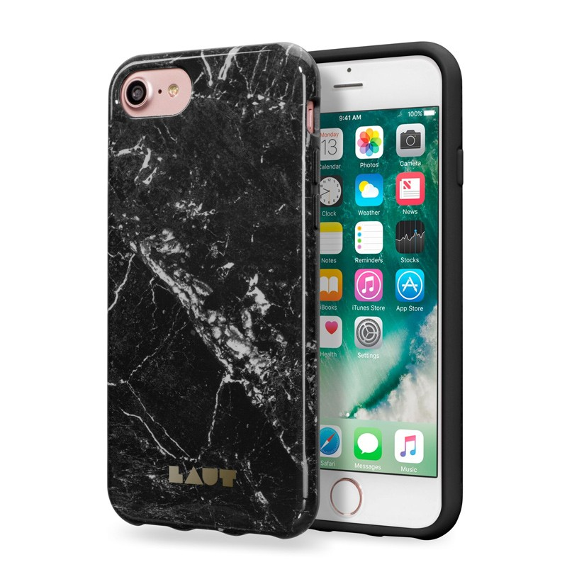 LAUT Huex Marble iPhone 7 Plus Black Marble 01