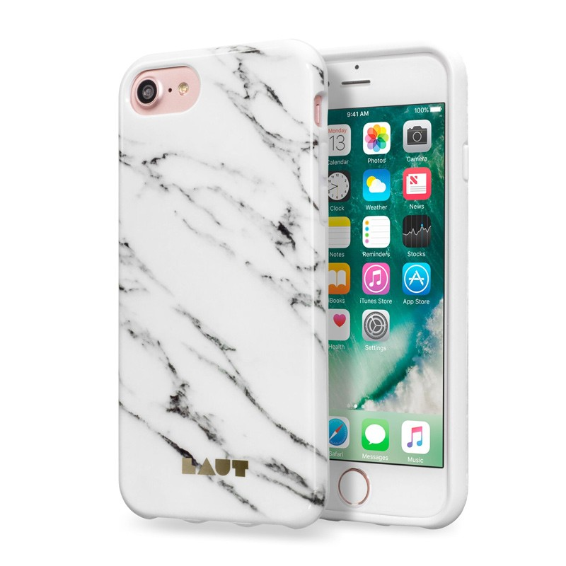 LAUT Huex Marble iPhone 7 Plus White Marble 01