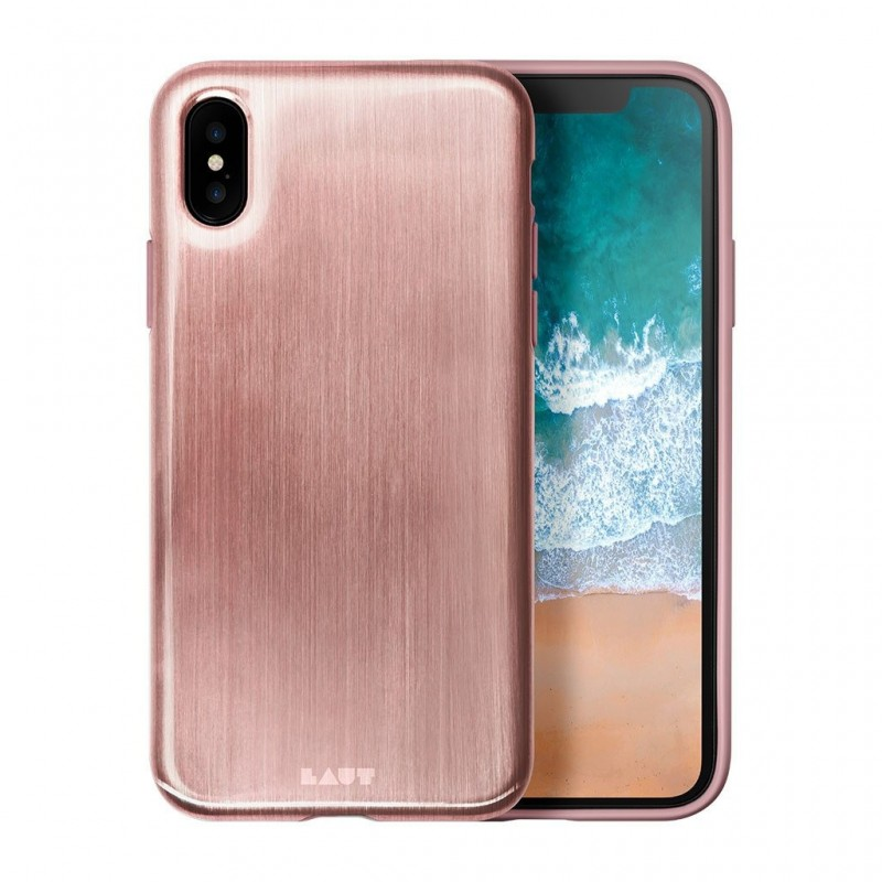 LAUT Huex Metallics iPhone X Rose Gold - 1