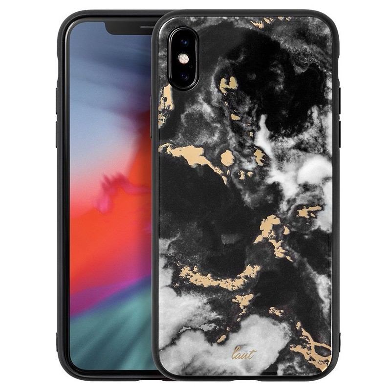 LAUT Mineral Glass iPhone XS Max Case Zwart 01
