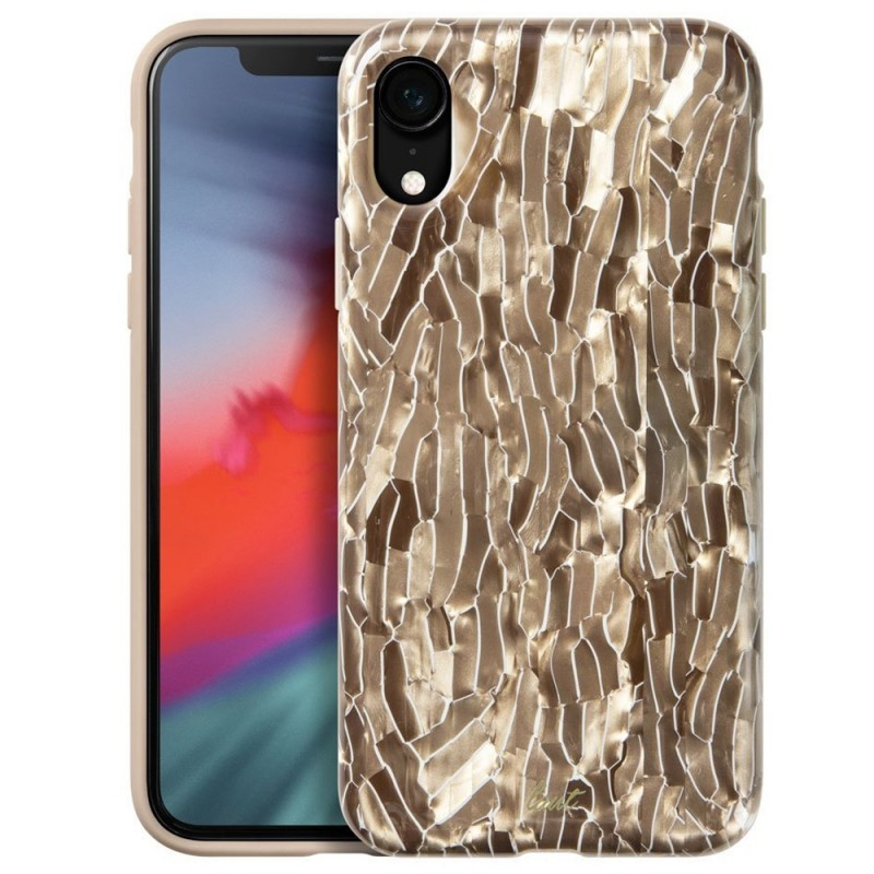 LAUT Pearl Case iPhone XR Champagne Goud 01