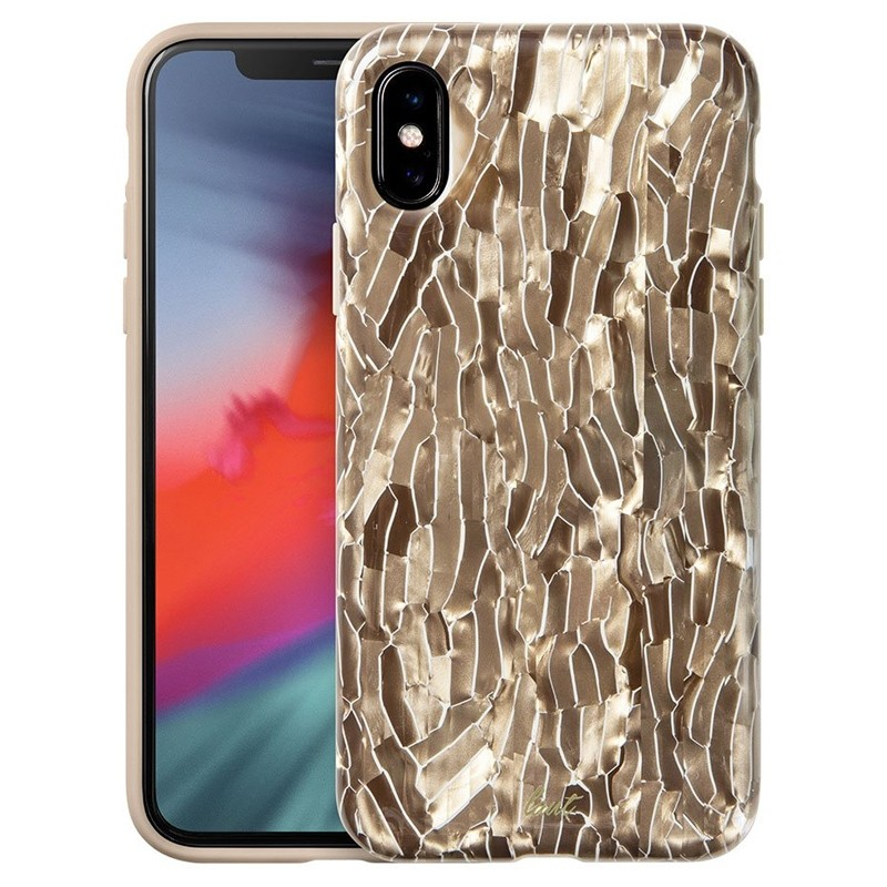 LAUT Pearl Case iPhone XS Max Hoesje Champagne 01