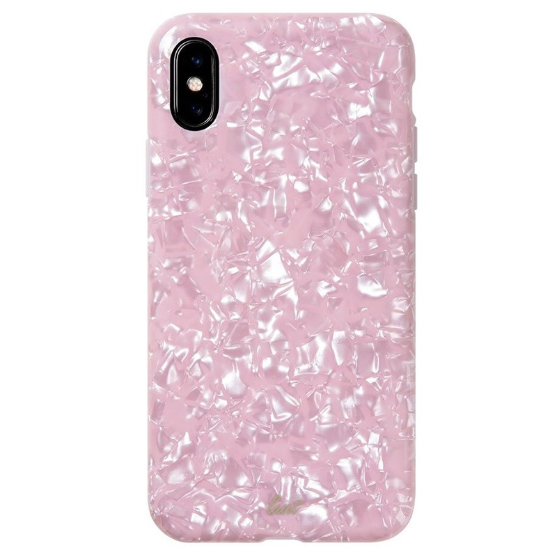 LAUT Pearl Case iPhone XS Max Hoesje Pink Rose 03