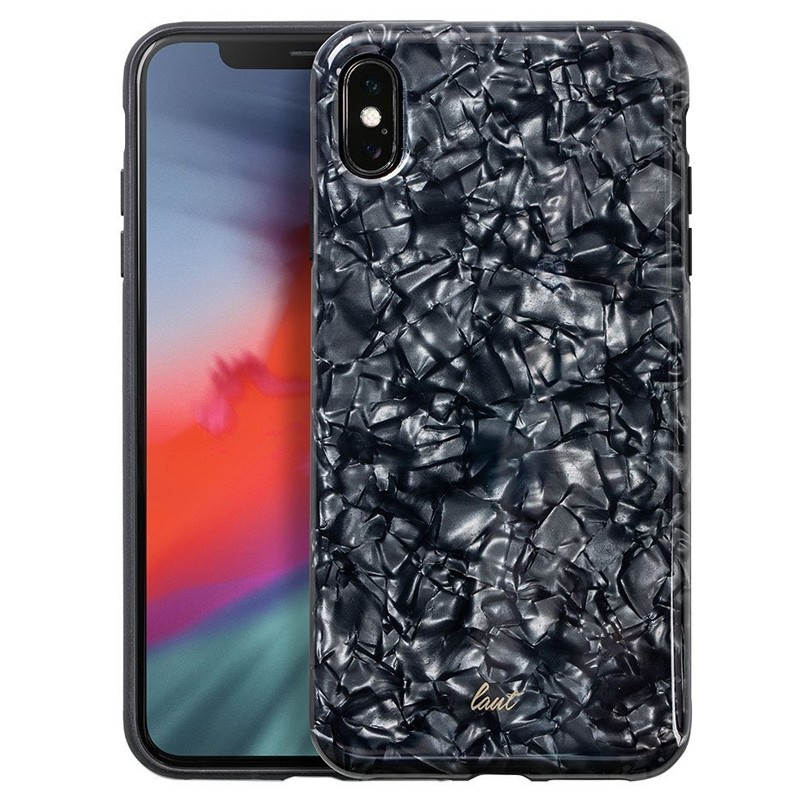 LAUT Pearl Case iPhone XS Max Hoesje Black Pearl 01