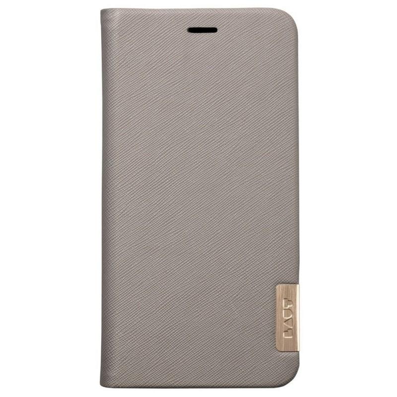 LAUT Prestige Folio iPhone XR Portemonnee Hoes Taupe Grijs 04