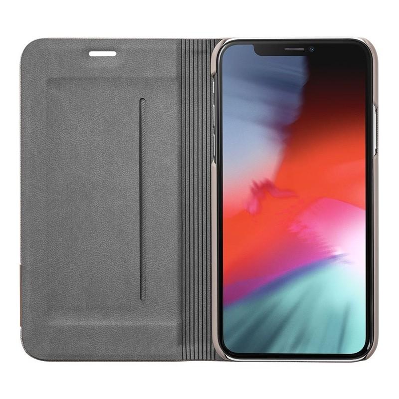 LAUT Prestige Folio iPhone XS Max Wallet Taupe 03