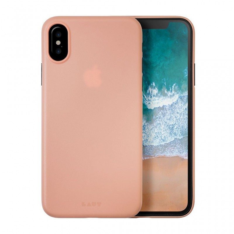 LAUT SlimSkin iPhone X/Xs Coral Pink - 1
