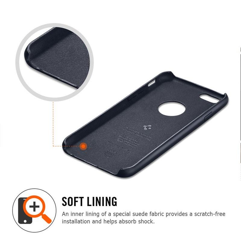 Spigen Leather Fit Case iPhone 6 Blue - 3