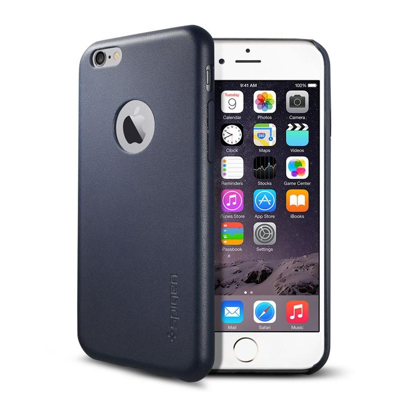 Spigen Leather Fit Case iPhone 6 Blue - 1