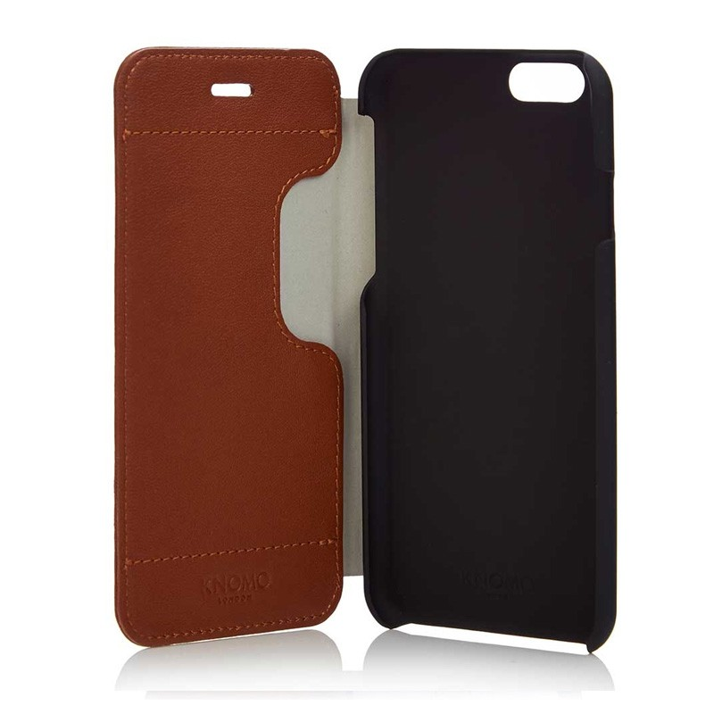 Knomo Leather Folio iPhone 6 Plus Brown - 2
