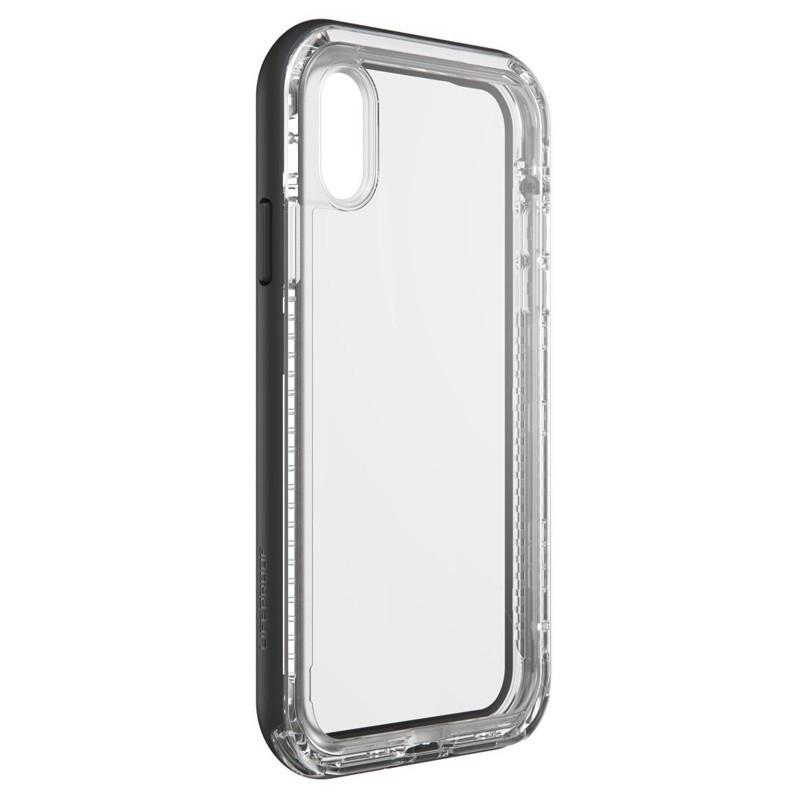 LifeProof Next Extra Stevige iPhone XR Hoes Black Crystal Zwart Transparant 03