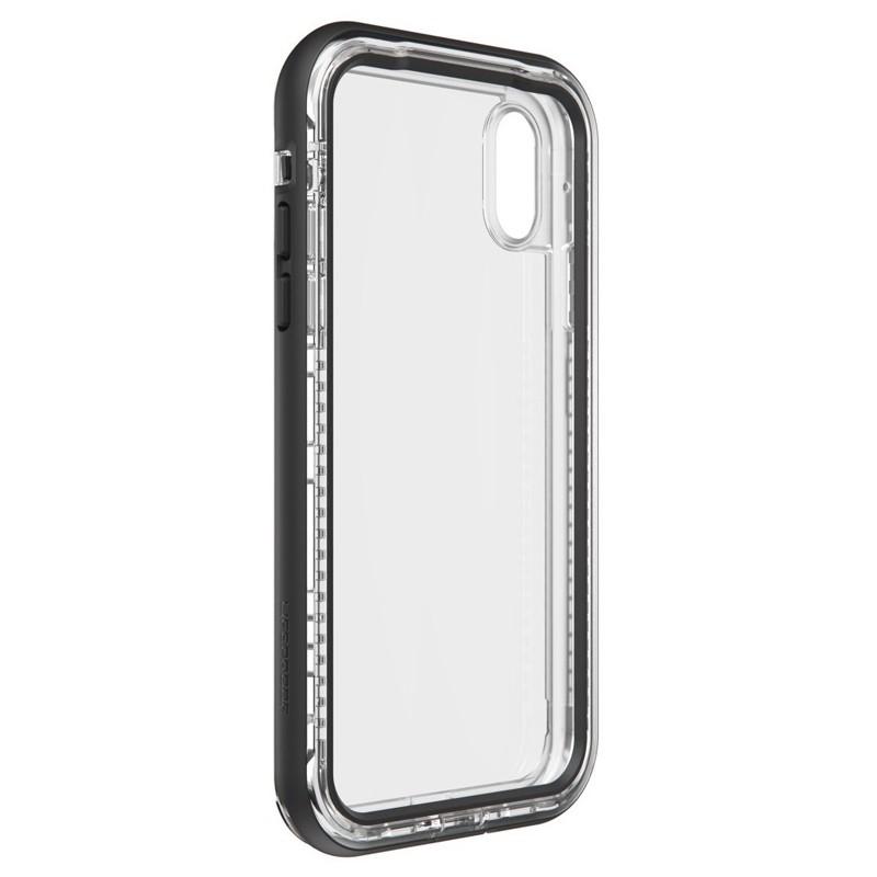 LifeProof Next Extra Stevige iPhone XR Hoes Black Crystal Zwart Transparant 05