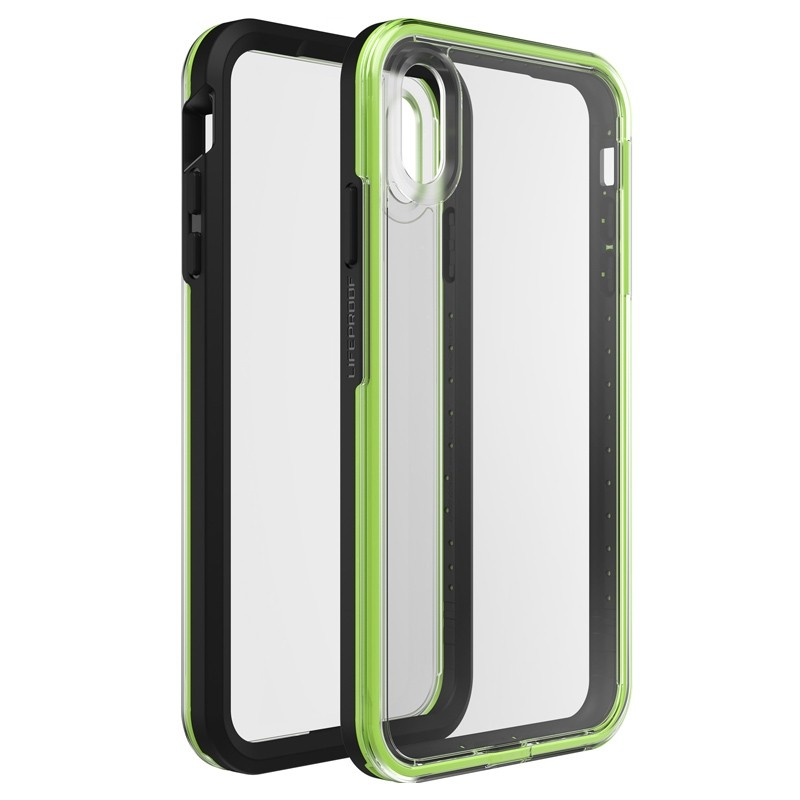 Lifeproof Fre Case iPhone XS Max Zwart / Groen (Night Flash) 01