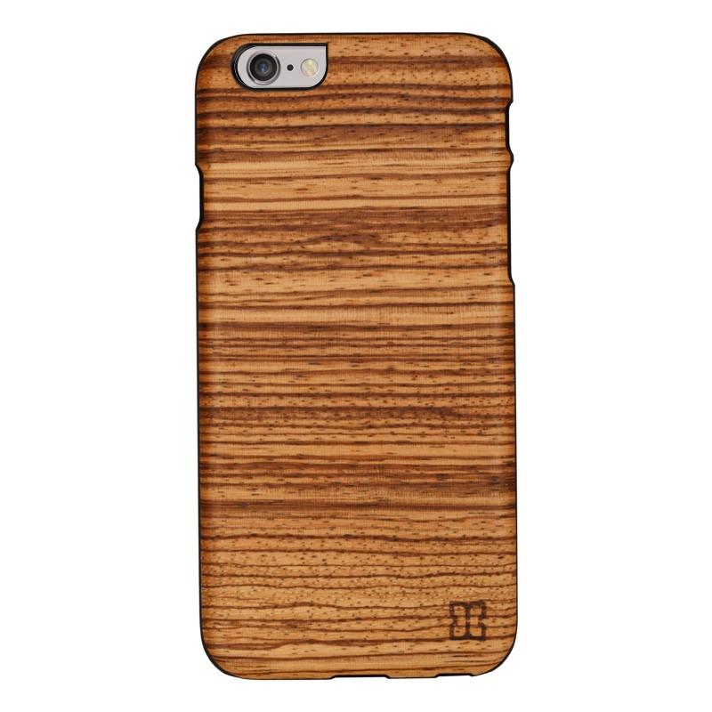 Man & Wood Houten Back Case Zebrano iPhone 6 / 6S - 1
