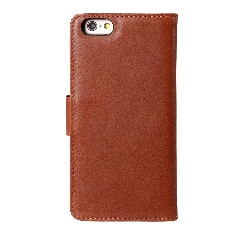 Mekco Alphard Wallet Case iPhone 6/6S Tan Brown - 2