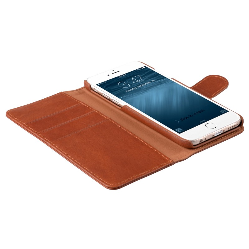 Mekco Alphard Wallet Case iPhone 6/6S Tan Brown - 4