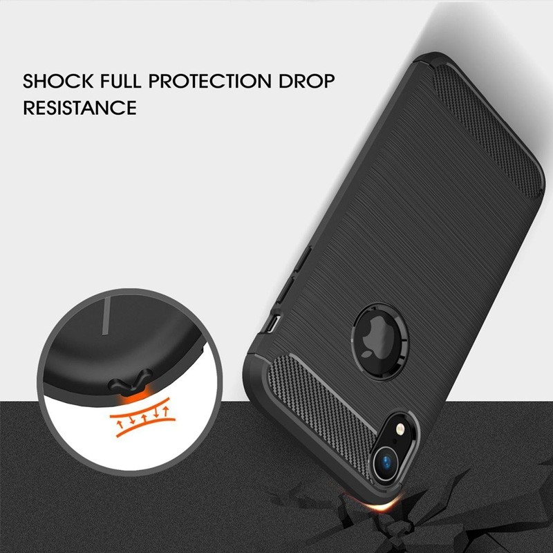 Mobiq Rugged Armor Case iPhone XR Grijs 05