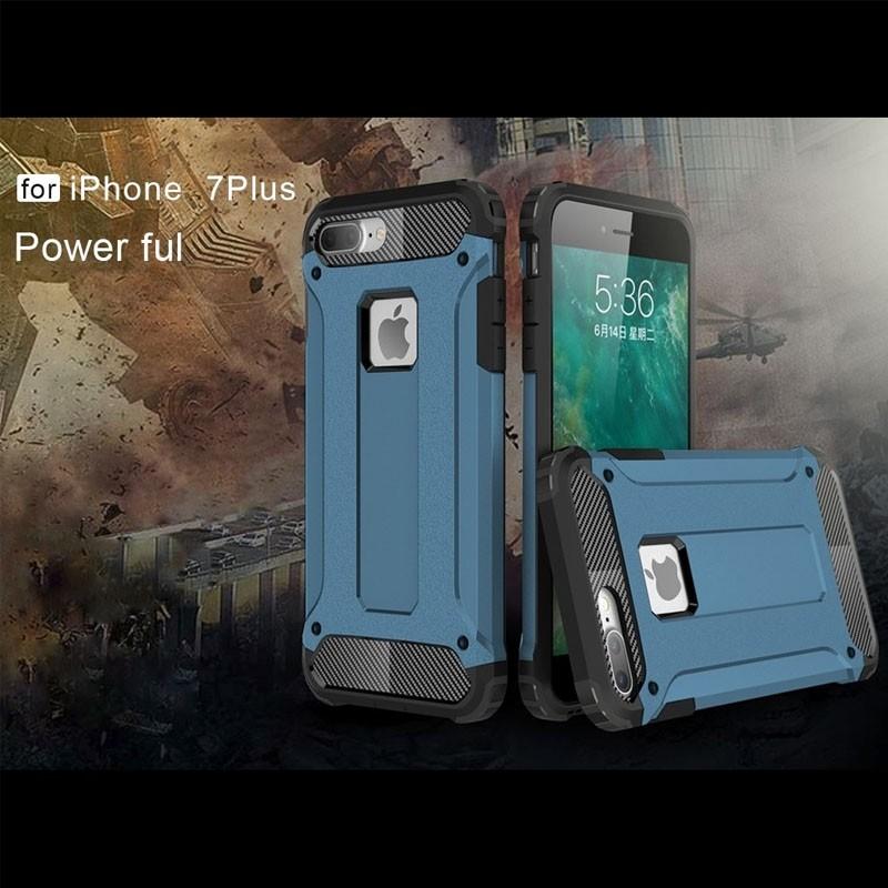 Mobiq - Rugged Armor Phone 8 Plus/7 Plus Hoesje Blauw - 3