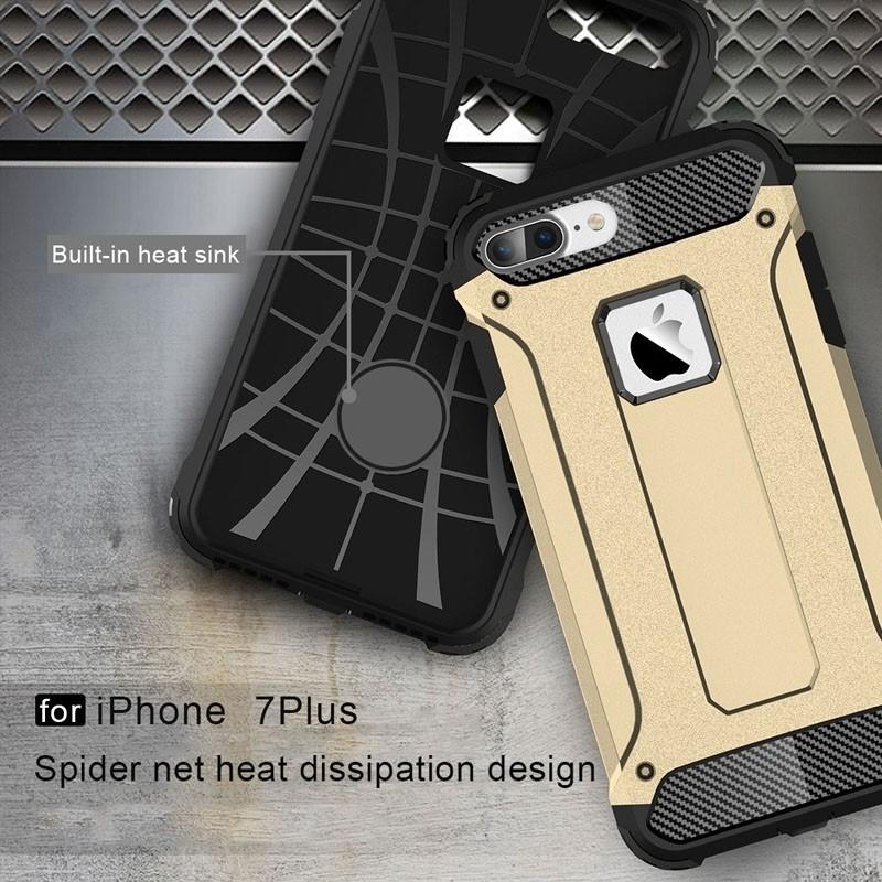 Mobiq - Rugged Armor Phone 8 Plus/7 Plus Hoesje Goud - 4