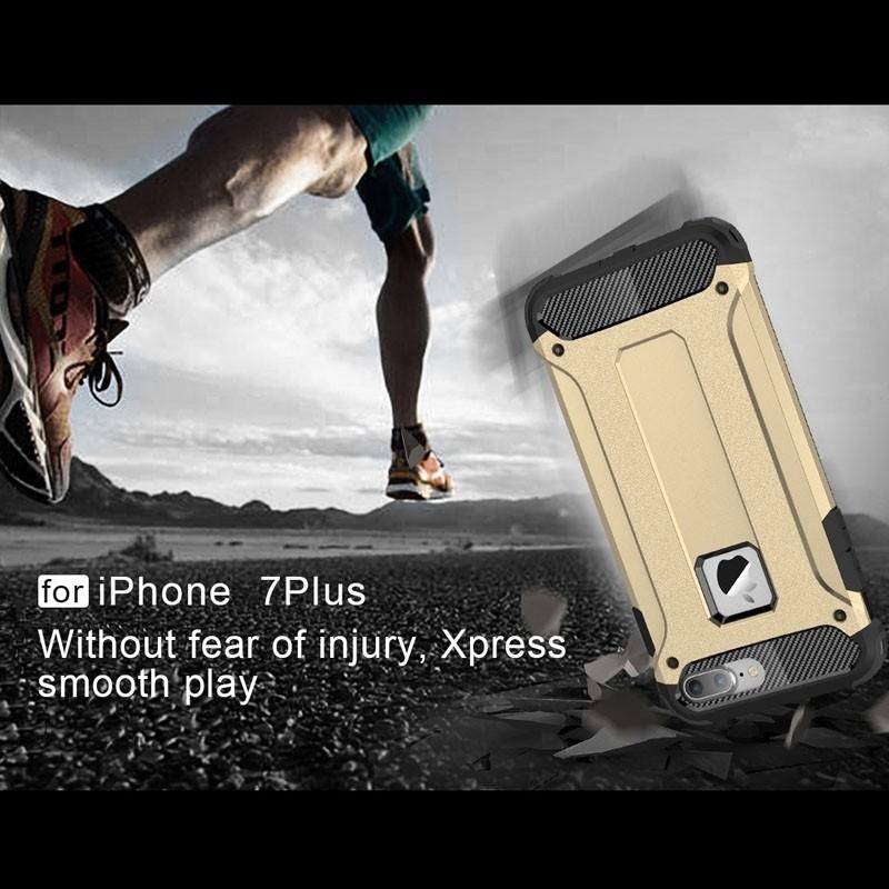 Mobiq - Rugged Armor Phone 8 Plus/7 Plus Hoesje Goud - 7