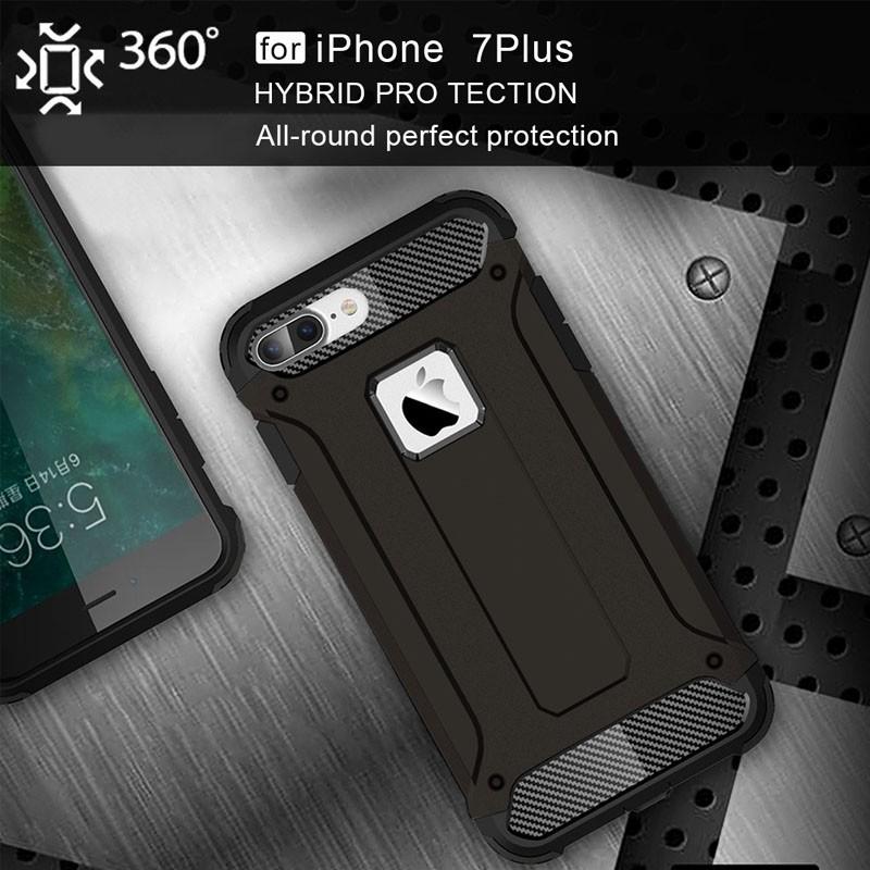 Mobiq - Rugged Armor Phone 8 Plus/7 Plus Hoesje Zwart - 4