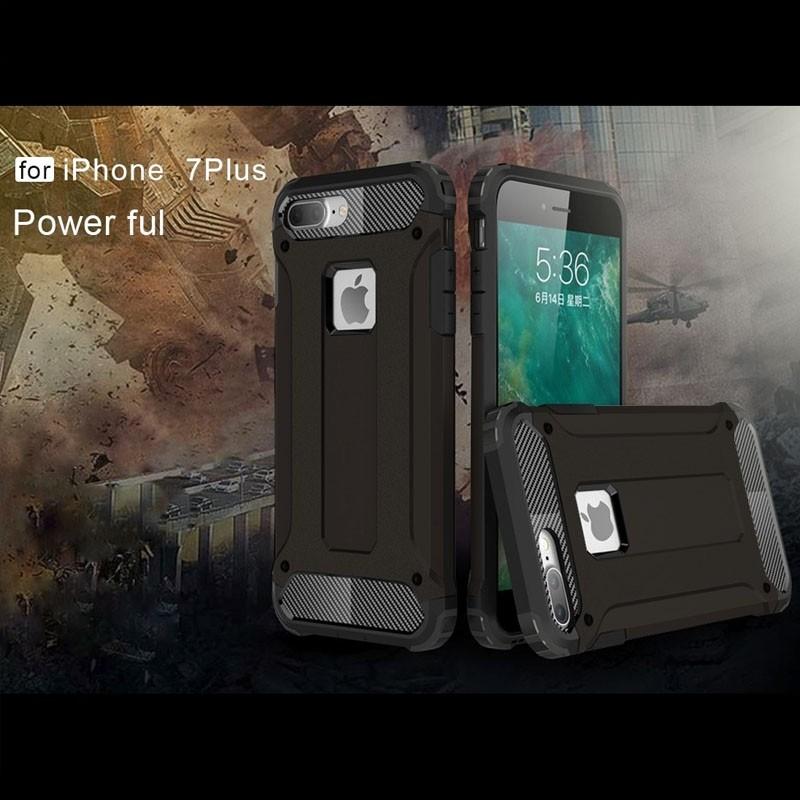 Mobiq - Rugged Armor Phone 8 Plus/7 Plus Hoesje Zwart - 5
