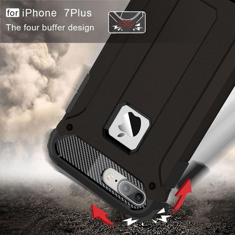 Mobiq - Rugged Armor Phone 8 Plus/7 Plus Hoesje Zwart - 7