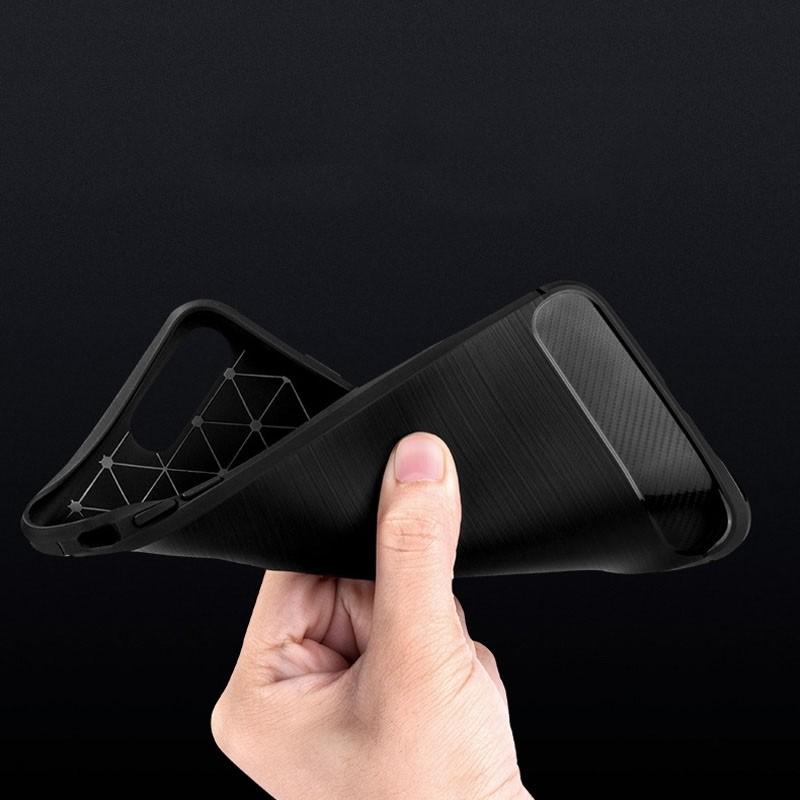Mobiq - Hybrid Carbon iPhone 8 Plus / 7 Plus Hoesje Grijs - 4