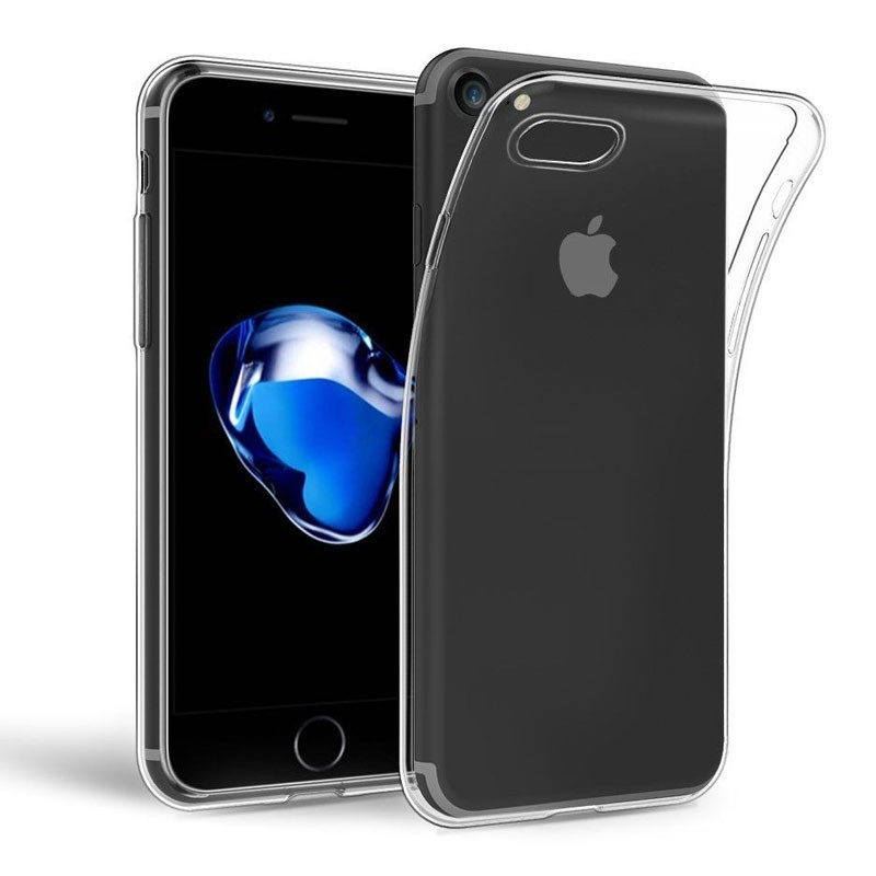 Mobiq - Transparant iPhone 8 /7 TPU Hoesje - 1