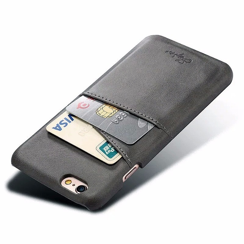 Mobiq Leather Snap On Wallet iPhone 8/7 Grijs - 3