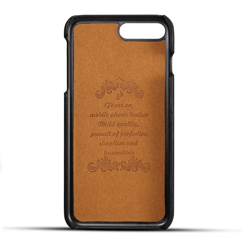 Mobiq Leather Snap On Wallet iPhone 8 Plus/7 Plus Zwart - 2