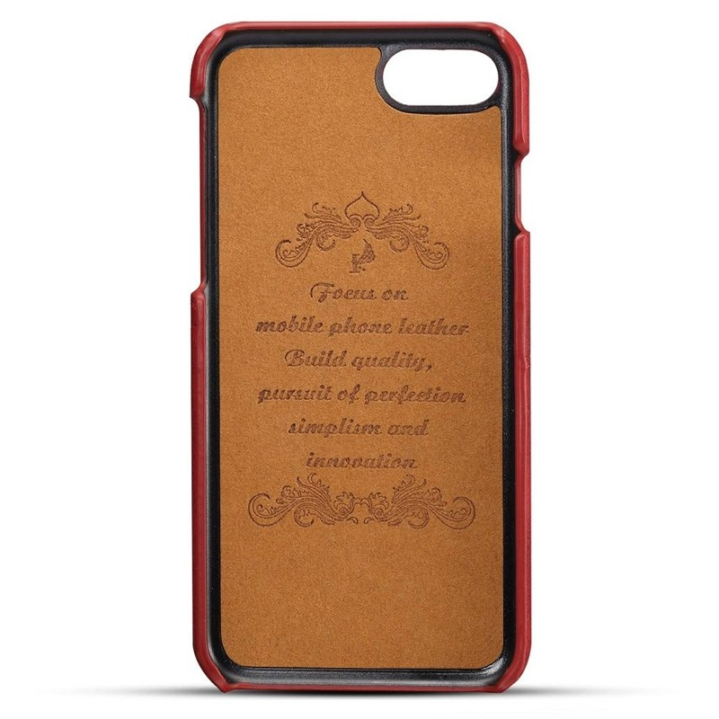 Mobiq Leather Snap On Wallet iPhone 8/7 Rood - 3