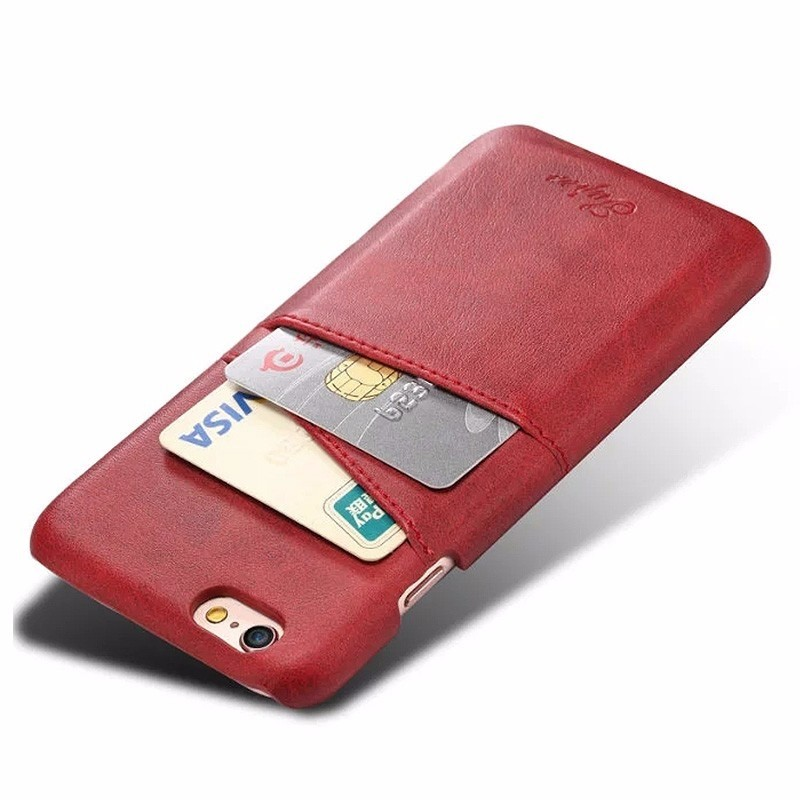 Mobiq Leather Snap On Wallet iPhone 8/7 Rood - 2