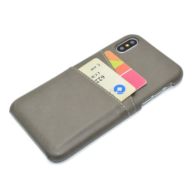 Mobiq Leather Snap On Wallet Case iPhone X/Xs Grijs 03