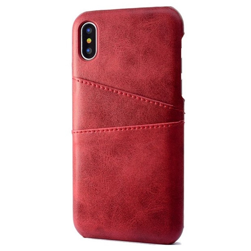 Mobiq Leather Snap On Wallet iPhone XR Rood 01