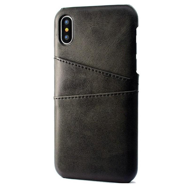 Mobiq Leather Snap On Wallet iPhone XR Zwart 01