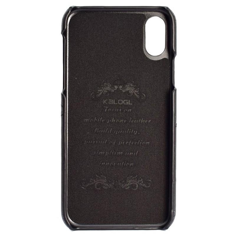 Mobiq Leather Snap On Wallet iPhone XR Zwart 02
