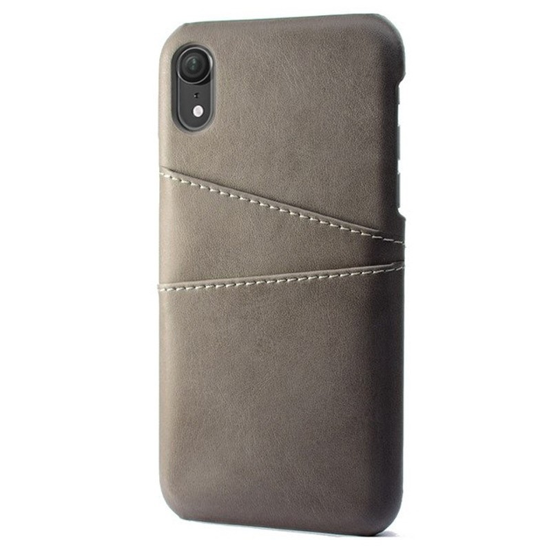 Mobiq Leather Snap On Wallet iPhone XS Max Grijs 01